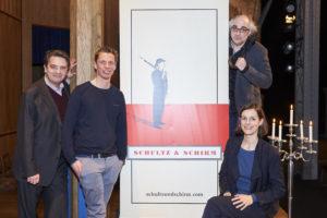 Christoph Wagner-Trenkwitz, Klaus Eckel, Michael Niavarani und Helen Zellweger; copyright Schultz & Schirm und Markus Wache