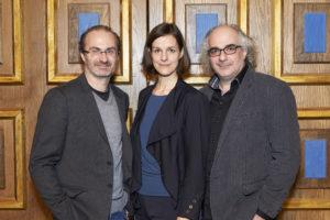 Georg Hoanzl, Helen Zellweger, Michael Niavarani; copyright Schultz & Schirm und Markus Wache