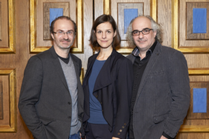 Helen Zellweger mit Georg Hoanzl und Michael Niavarani