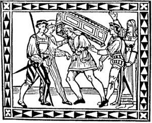 TItelholzschnitt von La Calandria (Ausgabe Siena 1521)