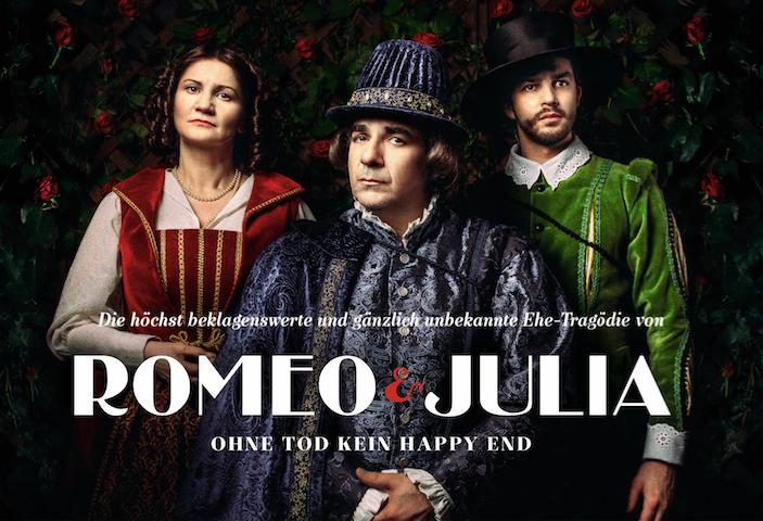 Das Plakat von Romeo & Julia – Jetzt im Globe Wien!