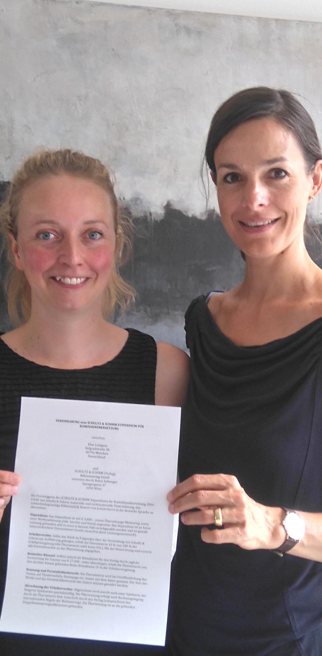 Preisträgerin des Schultz & Schirm Stipendiums 2016!