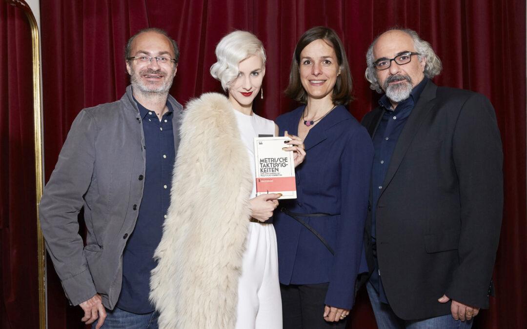 Foto von Georg Hoanzl, Lisa Eckhart, Helen Zellweger und Michael Niavarani, Copyright Markus Wache