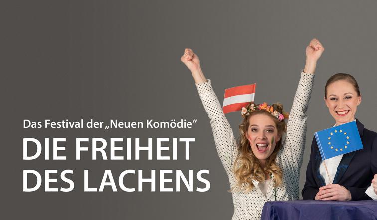 """Banner des Festivals """"Die Freiheit des Lachens"""""""